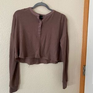 Urban Outfitters Long Sleeve Crop